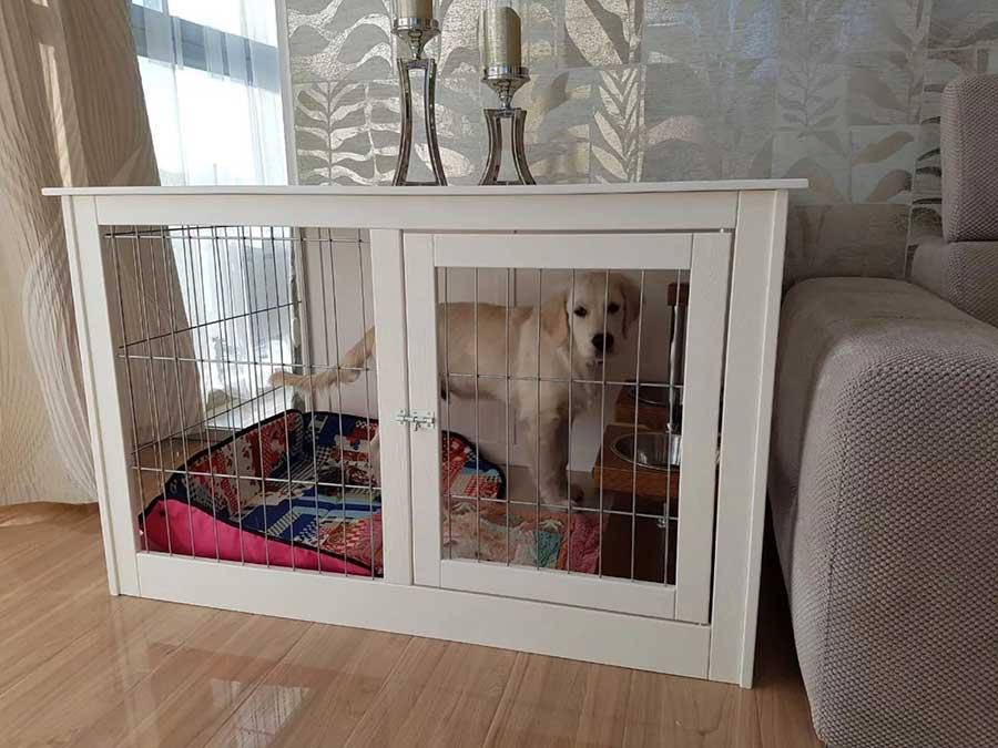 как выбрать правильную квартирную клетку-домик для собаки